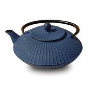 "27 Oz. Blue Cast Iron ""Fidelity"" Teapot"