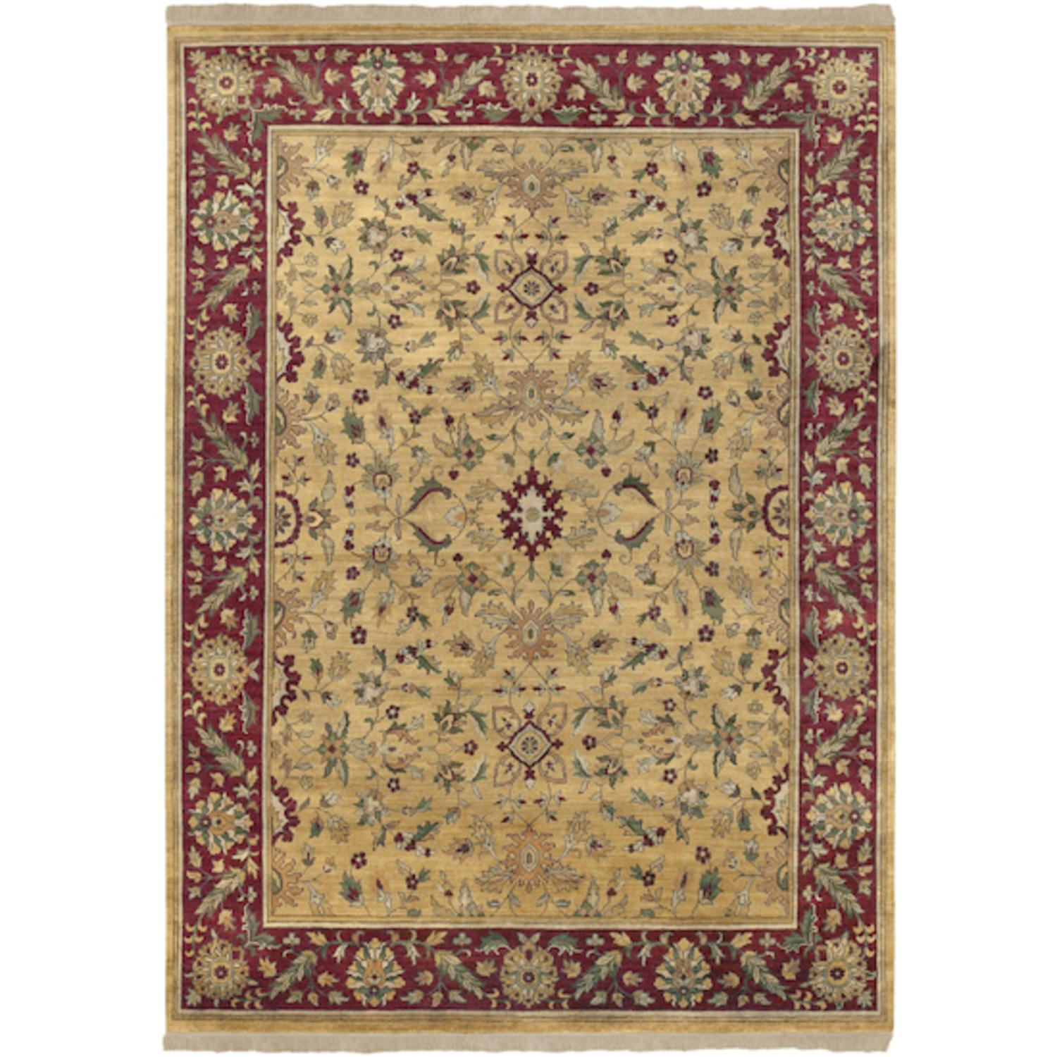 8' x 11' Eastern Jewels Auburn and Cumin Hand Knotted Wool Area Throw Rug