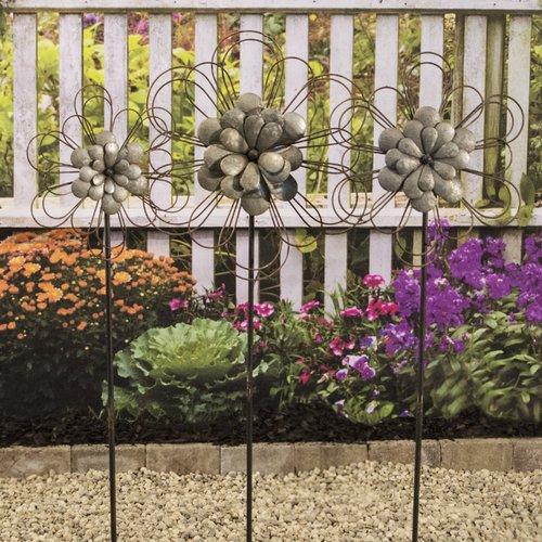 American Mercantile 3 Piece Flower Garden Stake Set by VIP International