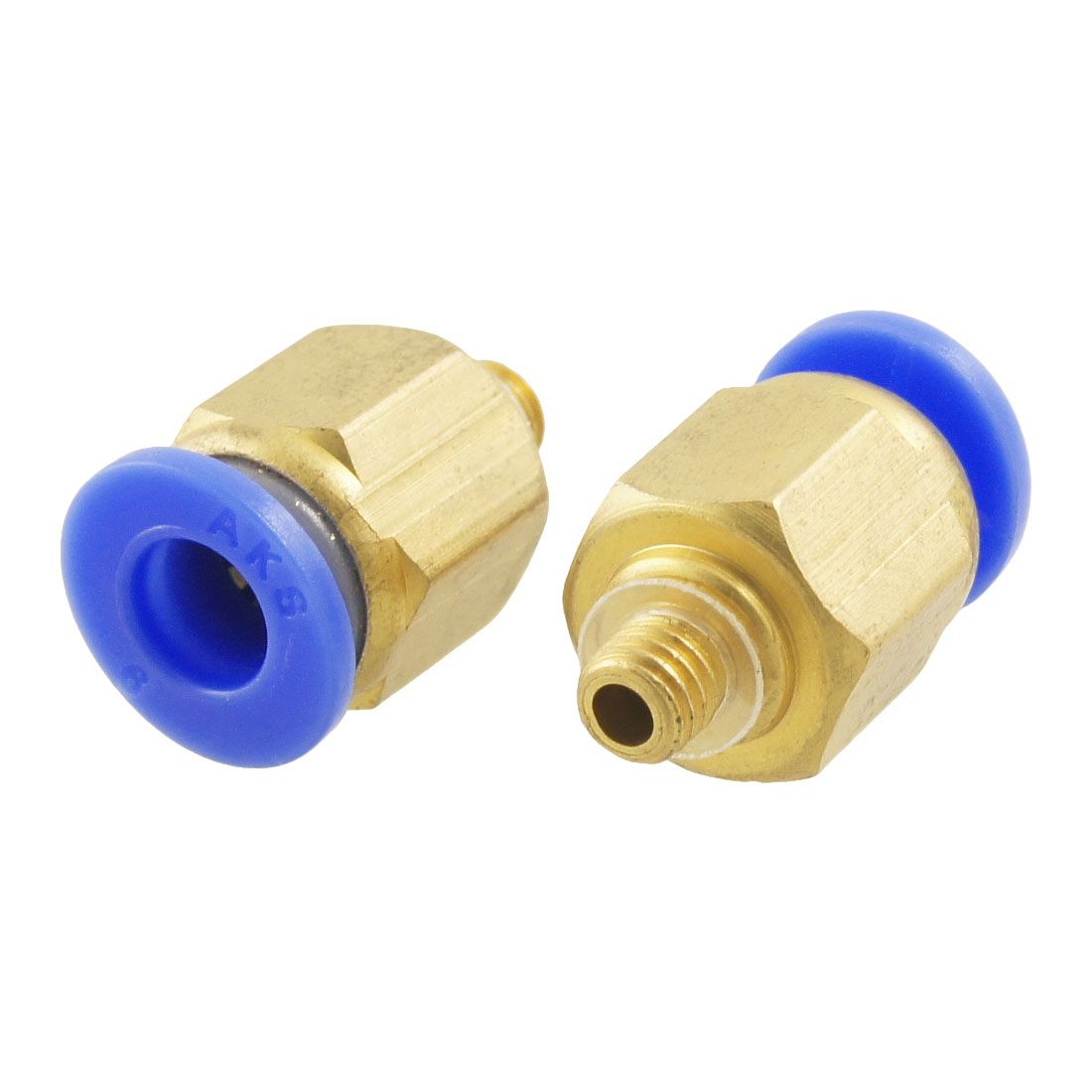 Unique Bargains 2pcs Male Thread 6mm x 4.8mm Quick Adapter Pneumatic Fittings