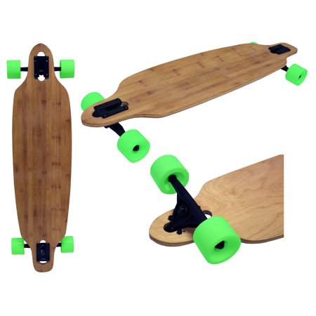 BAMBOO DROP THROUGH THRU LONGBOARD SKATEBOARD COMPLETE 9 in X 36 in
