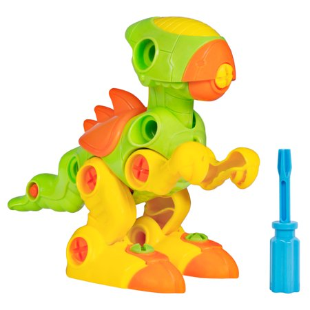 Best Choice Product Kids 38-Piece Assembly Building Set Take-A-Part Toy Dinosaur STEM Toy w/ Screwdriver Tools, Lights,