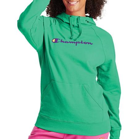 Champion Women's Powerblend Fleece Pullover Hoodie-Graphic