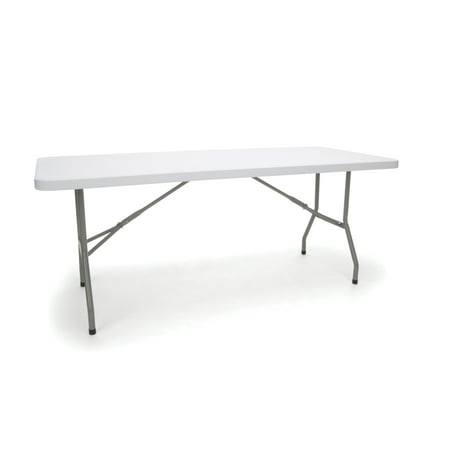 Essentials by OFM ESS-5072 6' Blow Molded Folding Utiity Table, White