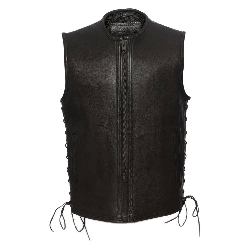 First Manufacturing Men's Venom Motorcycle Vest Black M