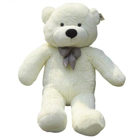 1.2M Giant Cuddly Stuffed Animals Plush Teddy Bear Toy Doll - White