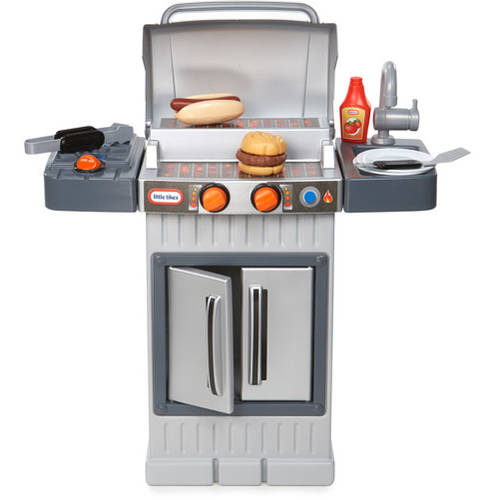 Little Tikes Play Kitchen With Grill little tikes cook 'n grow bbq grill - walmart