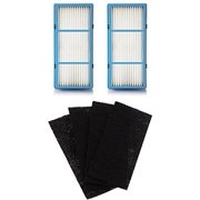 2 Replacement HEPA Filter and 4 Charcoal Booster Pre Filter for Holmes AER1 Total Air Filter, HAPF30AT for Purifier HAP242-NUC
