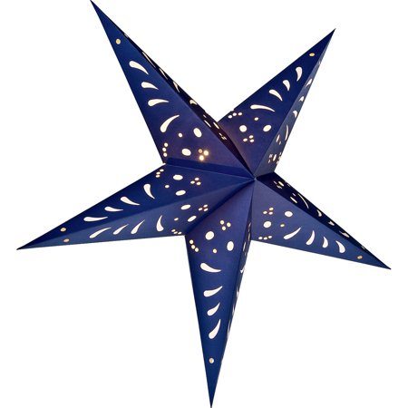 Paper Star Lantern (24-Inch, Navy Blue) - For Home Decor, Parties, and Holiday Decorations](Stars For Decorations)