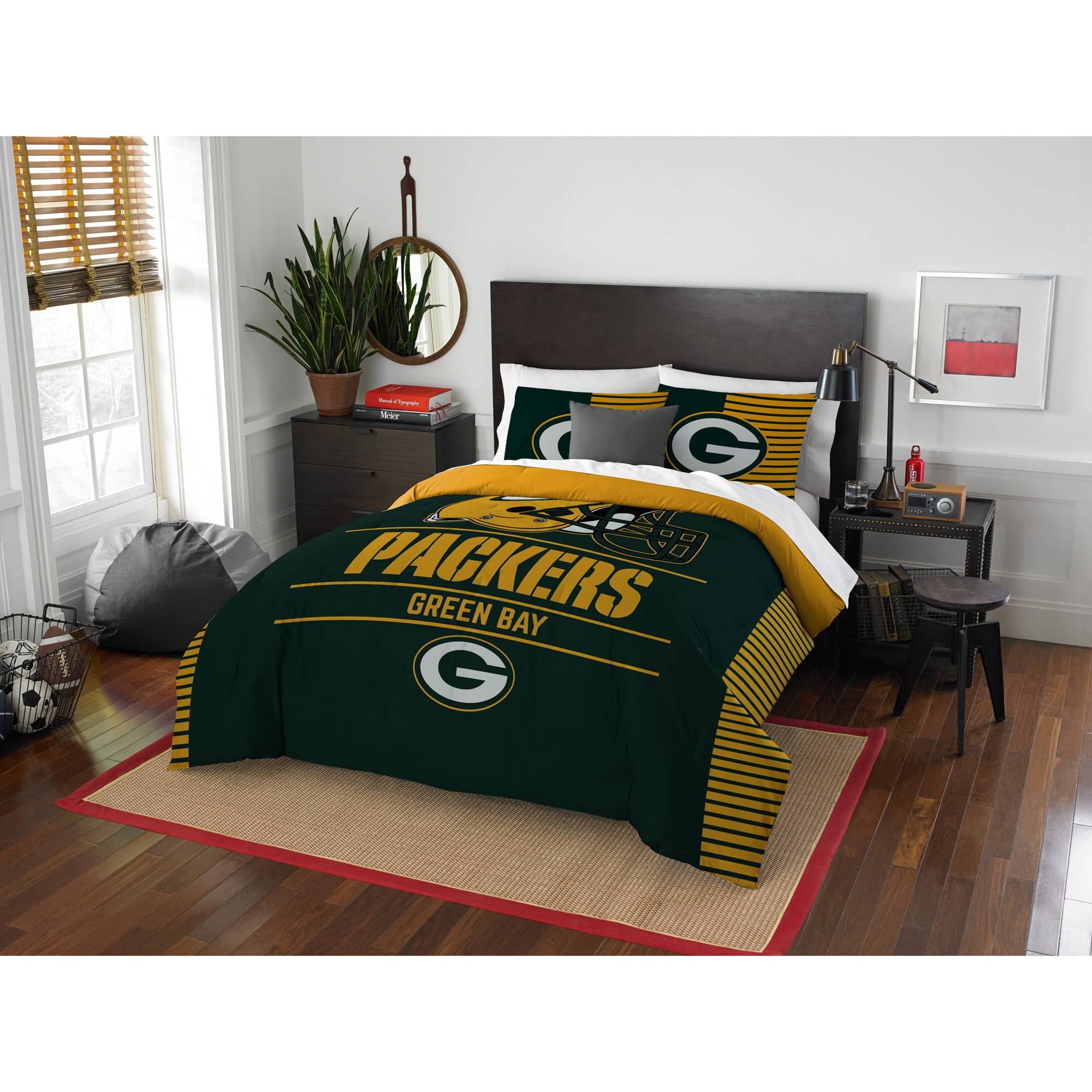 """NFL Green Bay Packers """"Draft"""" Bedding Comforter Set by The Northwest Company"""
