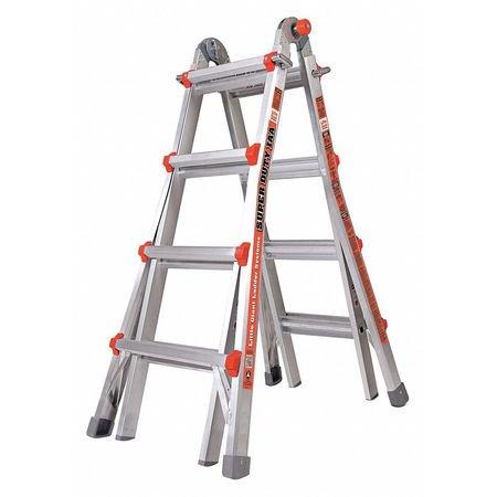 - Multipurpose Ladder,17 ft.,IAA,Aluminum LITTLE GIANT 10402