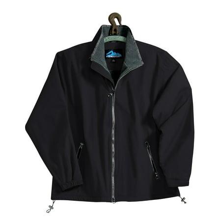 Tri-Mountain Patriot 8090 Nylon Jacket with Fleece Lining, 2X-Large, Black/Charcoal/Charcoal (Fleece Nylon Jacket)