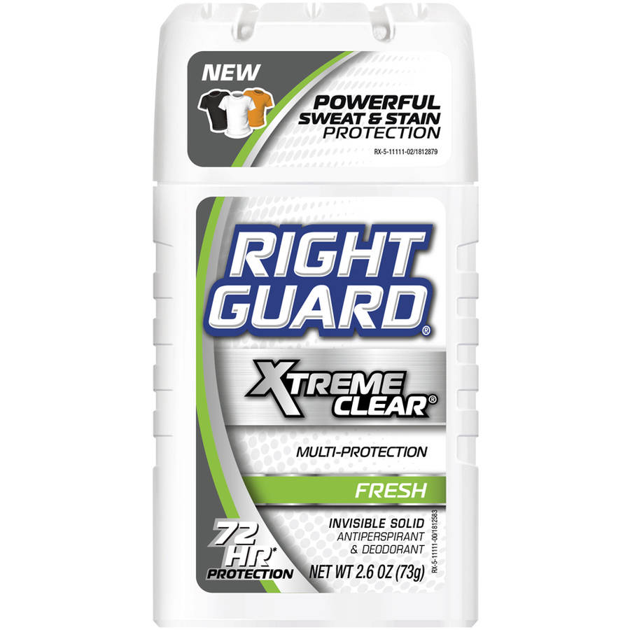 Right Guard Xtreme Clear Fresh Invisible Solid Antiperspirant & Deodorant Stick, 2.6 oz