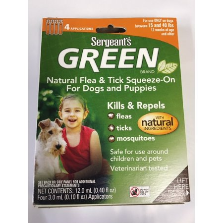 Sergeant S Green Flea And Tick Squeeze On Dog 15 40 Lbs