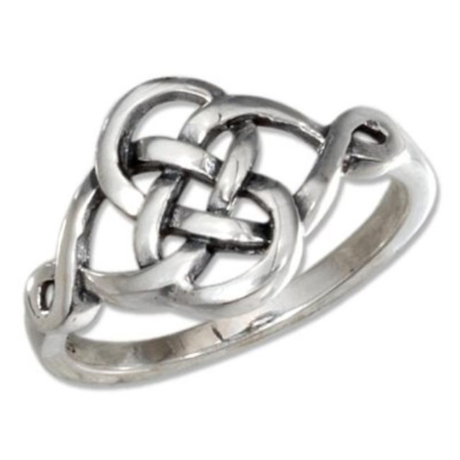 Plum Island Silver SR-2882-08 Sterling Silver Celtic Figure Eight Knot Ring - Size 8