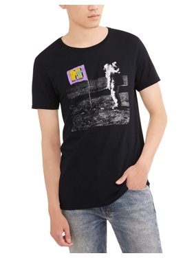64da0b604 Product Image MTV Men's Astronaut Landing Big Men's Graphic T-Shirt, ...