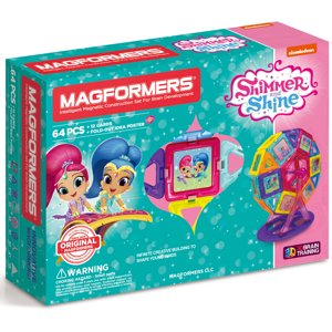 MAGFORMERS Shimmer and Shine Carnival 64-Piece Magnetic Construction Set