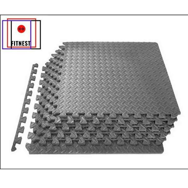 6pcs Interlocking Puzzle Rubber Foam Gym Fitness Exercise Tile Floor Mat NEW