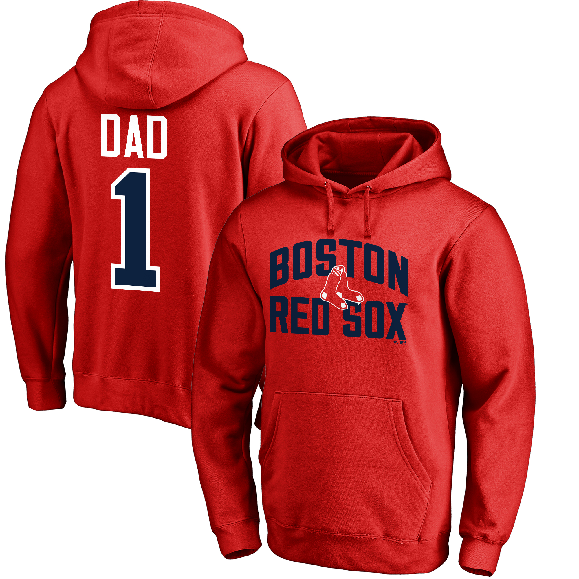 Boston Red Sox Fanatics Branded 2018 Father's Day #1 Dad Pullover Hoodie - Red