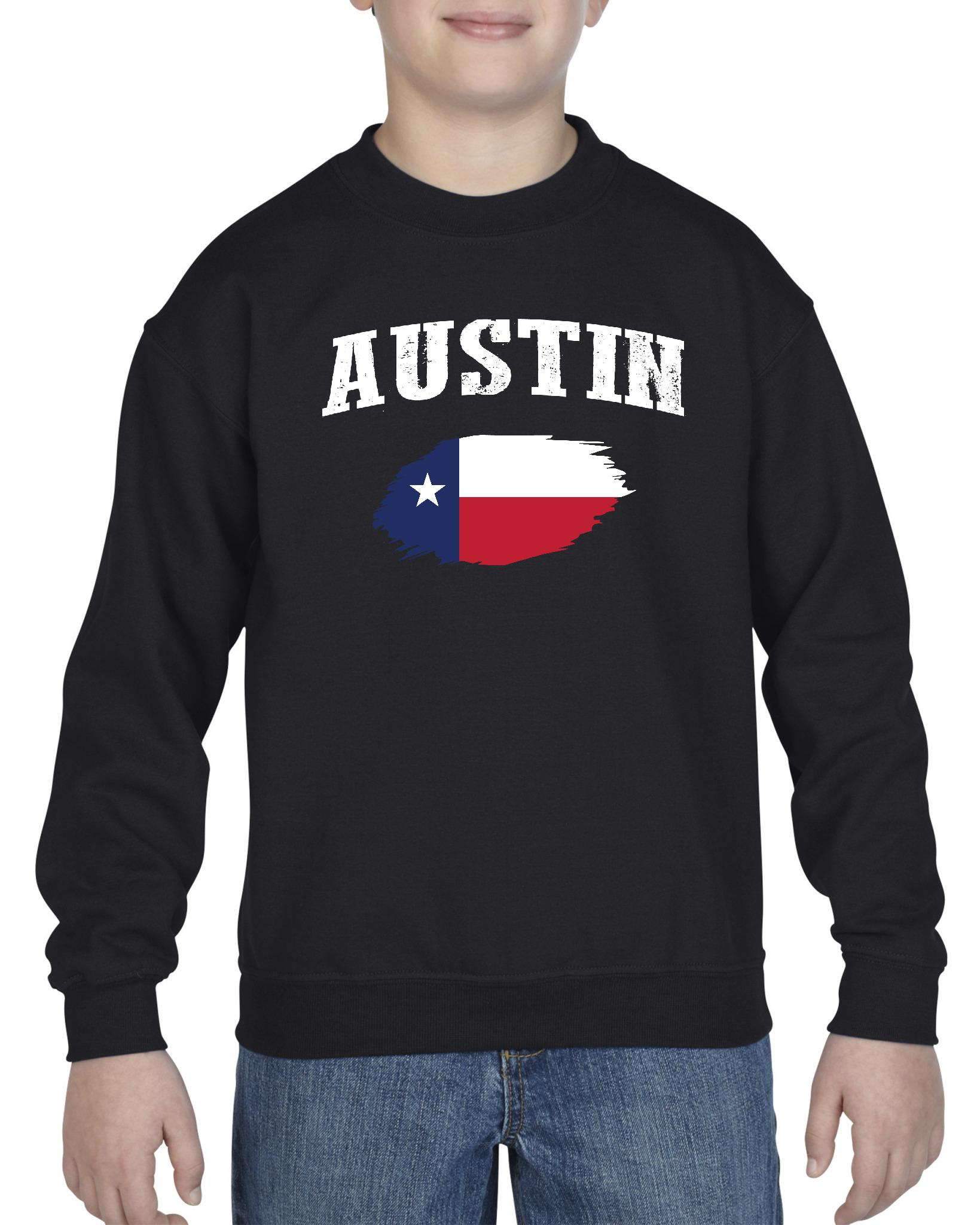 Austin Texas Youth Crewneck Sweatshirt