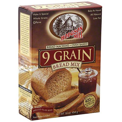 Hodgson Mill 9 Grain Bread Mix,16 oz (Pack of 6) by Hodgson Mill