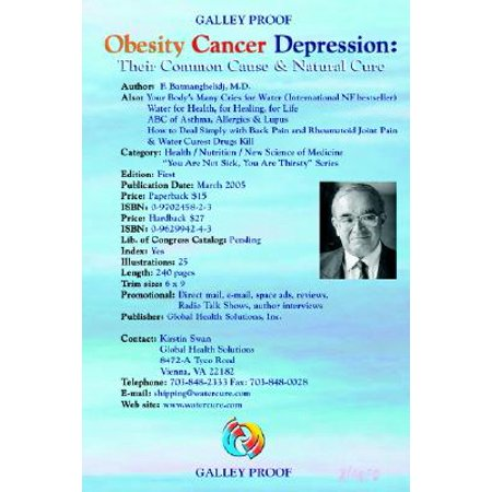 Obesity Cancer & Depression : Their Common Cause & Natural