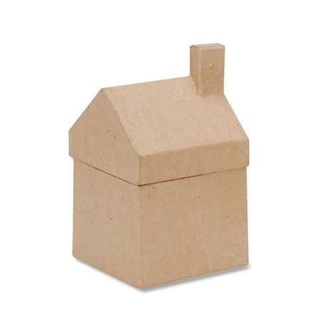 Paper Mache House Box - 3-1/2 x 6-1/4 x 3-5/8 in - Paper Mache Heads Halloween