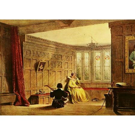 Mansions Of England 1912 Haddon Hall Dining Room Canvas Art Joseph Nash 18 X 24