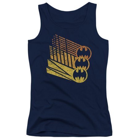 Batman - Bat Signal Shapes - Juniors Tank Top - Large