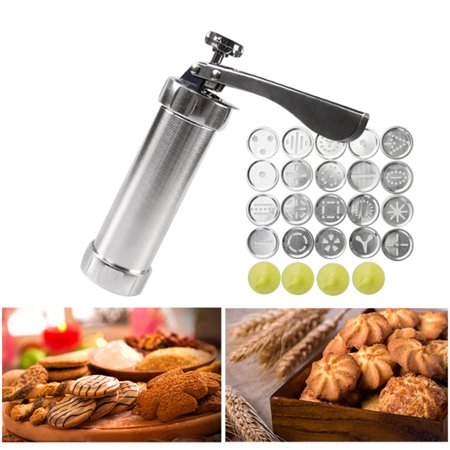 DIY Household Stainless Steel Tube Extrusion Stencil Machine 20 Flower Chip Cookie Cutters Manual Maker Press with 20 PCS Moulds - image 5 of 9