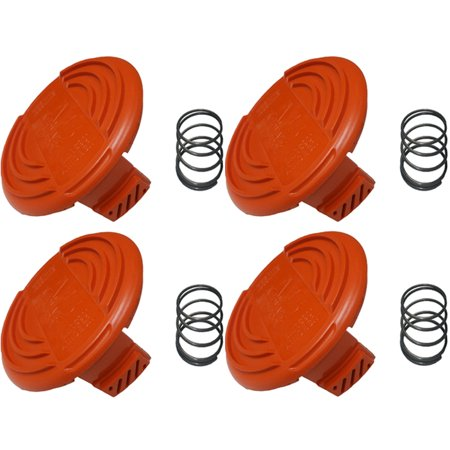 Black and Decker 4 Pack of Genuine OEM Replacement Spool Caps # RC100P-4PK - image 2 de 2