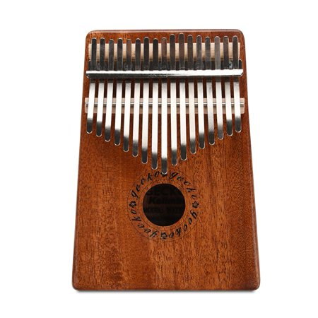 Knifun Kalimba 17 keys with Instruction and Tune Hammer, Portable 17 Key Wood Kalimba Thumb Piano Mbira Traditional Musical Instrument, Kalimba Thumb Piano Mahogany Finger Piano