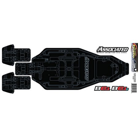 Team Associated Factory Team Chassis Protective Sheet printed: B6.1 B6.1D, ASC91825