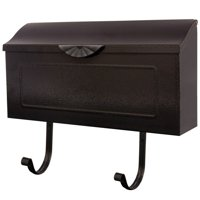Gibraltar Mailboxes Amboy Medium, Horizontal, Steel, Wall Mount Mailbox, Black, MB676ABK