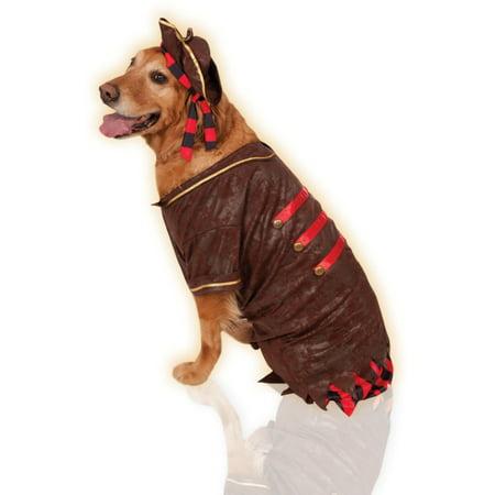 Big Dogs Pirate Boy Swashbuckler Jack Sparrow Dog Pet Costume Size XXL - Dog Costume Box