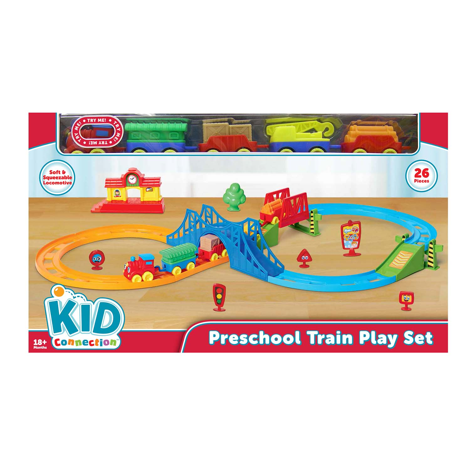 Kid Connection Preschool Train Play Set by Dongguan Supreme Delicate Toys Co. Ltd.
