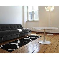 Garland Rug Quatrefoil Teal/Ivory 5'x7' Geometric Indoor Area Rug