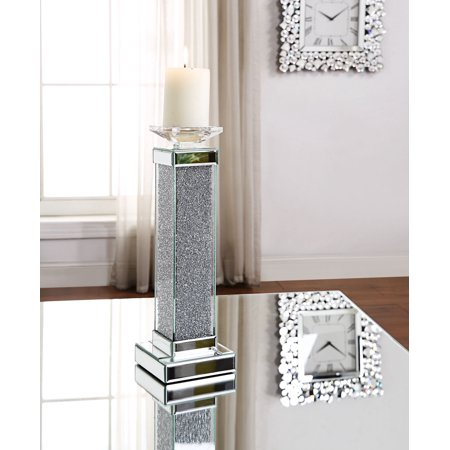 Acme Rekha Wooden Frame Accent Candleholder in Mirrored