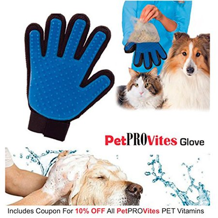 Amerteer Pet Grooming Glove,Gentle Deshedding Brush Glove,Efficient Pet Hair Remover Mitt,Enhanced Five Finger Design,Perfect for Dog & Cat with Long & Short Fur(Right-Hand)