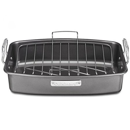 "Cuisinart 17"" x 13"" Non-Stick Roaster Pan with V-Rack, Non"
