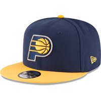 Indiana Pacers New Era 2-Tone Original Fit 9FIFTY Adjustable Snapback Hat - Navy/Gold - OSFA