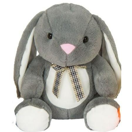 Kellytoy 14 inch Sitting Animals Gray Bunny Plush