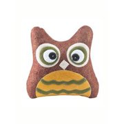 Quilted Red & Yellow Owl Pillow by Ganz