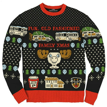 Christmas Vacation Ugly Sweater (Christmas Vacation Fun Old Fashioned Family Xmas Ugly Christmas)