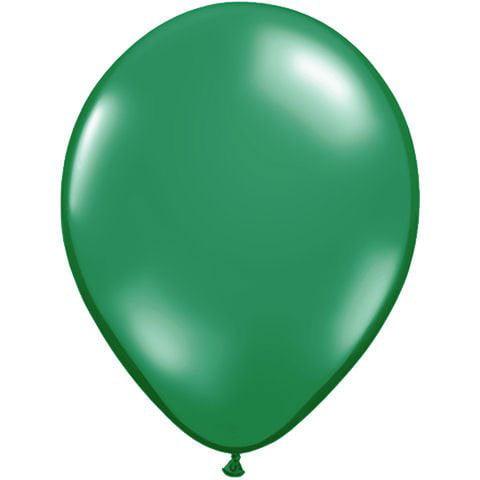 "Solid Jewel Tone Helium Quality 9"" Latex Balloons, Emerald Green, 100 CT"