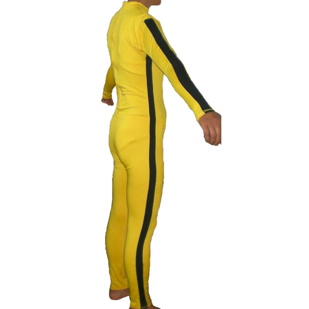 The Bride Costume Yellow Suit Kill Spandex Game Death Beatrix Kiddo Black Mamba