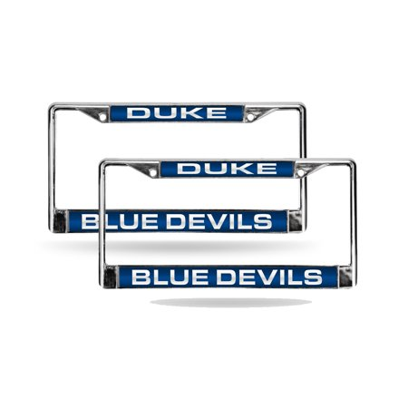 Duke Blue Devils Chrome Metal (2) Laser Cut License Plate Frame Set ...