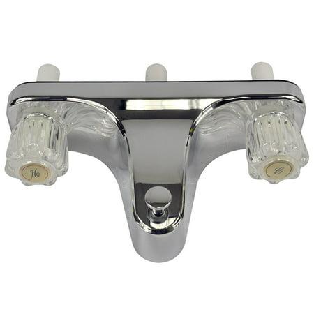 Mobile Home Rv Tub Shower Faucet 2 Valve Diverter Chrome