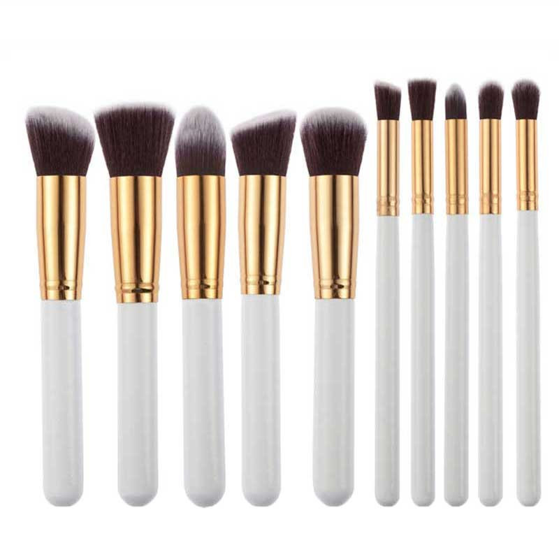 Unique Bargains Popular 10pcs Makeup Brushes Set Powder F...