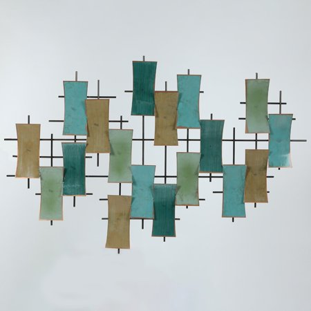 Winsome House Abstract Rectangles Wall Sculpture